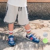 兒童嘻哈風 側邊字母 運動短褲 運動褲 短褲 休閒褲 男童 橘魔法 現貨