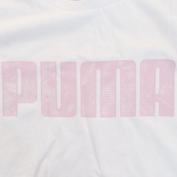 ★現貨在庫★ PUMA KA 女裝 短袖 休閒 純棉 透氣 白 亞規 【運動世界】 84404602