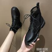 馬丁靴女夏季薄款透氣英倫風ins潮酷黑色靴子夏天百搭網紗涼短靴 韓語空間