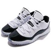 Nike Air Jordan 11 Retro Low PB Easter 復活節 喬丹 11代 低筒 白 綠 皮革 童鞋 中童鞋【PUMP306】 505835-145