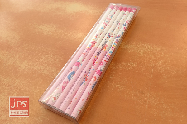 Hello Kitty 凱蒂貓 12入木頭鉛筆 2B鉛筆 粉白 KRT-211664