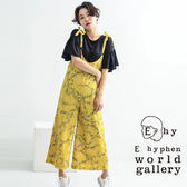 ❖ Spring ❖ 花卉圖案蝴蝶結吊帶連身褲 - E hyphen world gallery