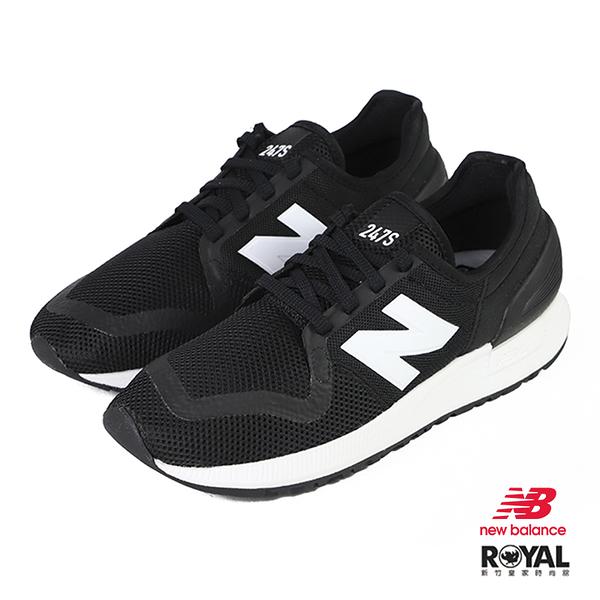 New balance 247S 黑色 織布 休閒運動鞋 男女款 NO.B1497【新竹皇家 MS247SG3】