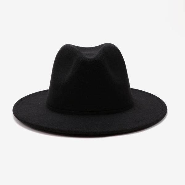 造型帽 韓版黑色毛呢帽子女秋冬韓國復古小禮帽女英倫名媛時尚百搭爵士帽