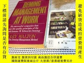 二手書博民逛書店英文原版罕見deming management at work