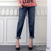 Victoria 袋蓋B.F直筒褲-女-中藍