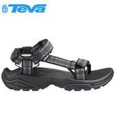 丹大戶外【TEVA】美國男款 Terra Fi 4 多功能水陸平底運動涼鞋/羅馬鞋/1004485 CTBC 菱格黑