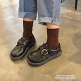 娃娃鞋ins小皮鞋女學生韓版百搭ulzzang原宿學院風復古平底大頭娃娃單鞋