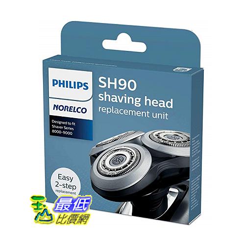 [8美國直購] Philips 飛利浦 替換刀頭 Norelco SH90/72 Replacement Heads New Version for Series 9000 (取代 SH90/62)