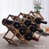 實木紅酒架鬆木葡萄酒架子歐式創意折疊木酒架擺件多瓶裝家用現代igo 可可鞋櫃