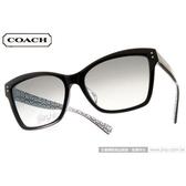 COACH 太陽眼鏡 COS8107F 521411 (黑) 高貴典雅簡約貓眼 墨鏡 # 金橘眼鏡
