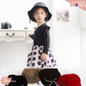 韓國飾品~復古風~蝶結波浪帽沿毛呢仕女帽/淑女帽~4色(P11050)★水娃娃時尚童裝★