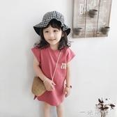 寶寶裙子年新款夏天純棉短袖洋氣寬鬆小童可愛公主女童洋裝中秋節全館免運