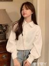 長袖襯衫 秋冬季2021年新款韓版港風長袖襯衫法式上衣設計感小眾白色襯衣女 愛丫 新品