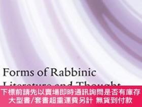 二手書博民逛書店Forms罕見Of Rabbinic Literature And ThoughtY464532 Alexan