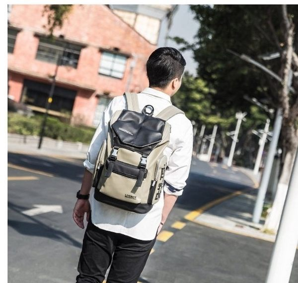 《澤米Jammy》LIVEBOX EN DIRECT原宿街頭潮流PU後背包HGD1175(全館任二件商品免運費)