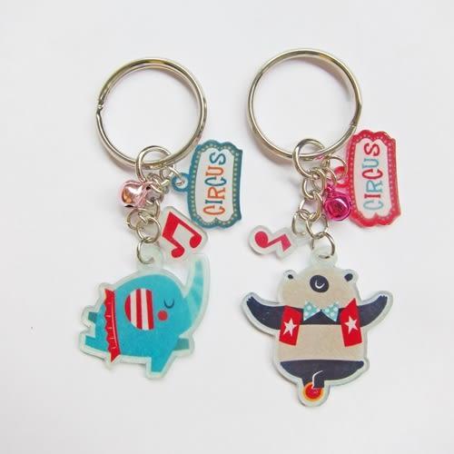 【米力設計】熱縮片鑰匙圈材料包-動物馬戲團