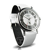【Arseprince】羅馬假期雙面鏤空時尚男錶-白銀