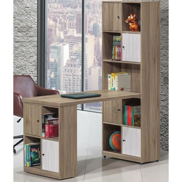 書桌 電腦桌 PK-441-3 路易士多功能L型書桌櫃 (不含其它產品)【大眾家居舘】