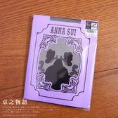 【京之物語】ANNA SUI玫瑰花朵女性假大腿襪黑色彈性褲襪M-L