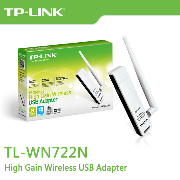 TP-LINK TL-WN722N V3 150Mbps 高增益無線 USB 網路卡
