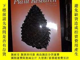 二手書博民逛書店JOURNNAL罕見OF PLANT RESEARCH 2014