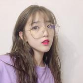 網紅多邊形眼鏡框女韓版潮復古圓臉大臉簡約顯瘦個性平光鏡眼鏡架