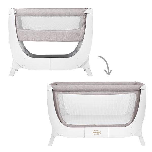 英國 Shnuggle Air成長型床邊嬰兒床|床邊床-第一階段+第二階段(兩色可選)