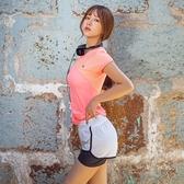 瑜珈服套裝(兩件套)-時尚拼色夏季慢跑女運動服4色73ry7[時尚巴黎]