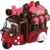 小禮堂 TOMICA多美小汽車 迪士尼 米妮 爆米花車 特仕車 玩具車 模型車 (粉棕) 4904810-16673