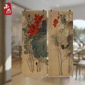 定制印花竹簾窗簾卷簾掛畫裝飾張大千齊白石印圖遮光中式噴繪復古