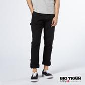 BIG TRAIN 日系街頭車標捲口9分褲-男-黑色-BM7251