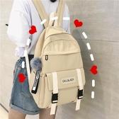 風書包女韓版高中百搭大容量初中學生背包森系古著感雙肩包潮  免運快速出貨