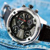 DIESEL 磨砂霧黑多錶盤腕錶 DZ7415 熱賣中!