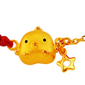 甜蜜約定金飾-星光閃爍-黃金蠟繩手鍊(兒童配戴)  彌月金飾 滿月禮  生肖