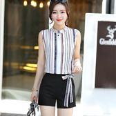 雪紡套裝兩件套女夏裝休閒時尚闊腿套裝 LQ4698『miss洛羽』