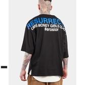 短袖T恤-圓領歐美休閒字母印花男上衣2色73qw14【巴黎精品】