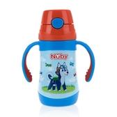 【Nuby】不鏽鋼真空學習杯細吸管 280ml (領航犬)