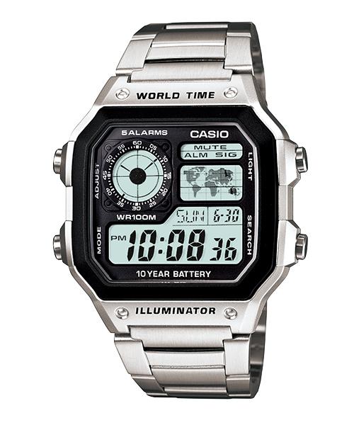 【CASIO宏崑時計】CASIO卡西歐十年電池 運動電子錶 AE-1200WHD-1A 100米防水 台灣卡西歐保固一年
