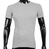 BURBERRY紳士透氣排汗短袖棉質上衣(灰色)085212-2