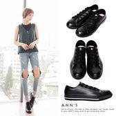 Ann'S不說沒人知道-百搭布鞋款式防水雨鞋-黑