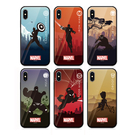 MARVEL 鋼化玻璃 軟/硬 手機殼│iPhone 7 8 Plus X XS MAX XR 11 Pro S8 S9 S10 S10E Note8 Note9│z9121
