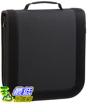 [106美國直購] AmazonBasics Nylon CD/DVD Wallet (128 Capacity)
