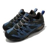 Merrell 戶外鞋 Alverstone GTX 藍 黑 男鞋 Gore-TEX 登山 越野【ACS】 ML034537