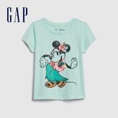 Gap女幼迪士尼印花圓領短袖T恤584843-湖綠色