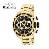 【INVICTA】新一代極致繩索腕錶 鋼鍊款 52mm - 金黑款