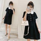中大尺碼2693#【實拍】夏季新款大碼女裝胖mm流蘇顯瘦小黑裙連衣裙(R032)