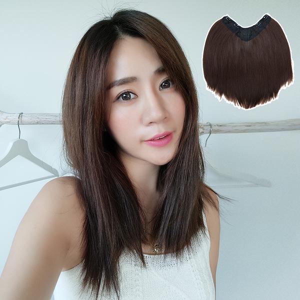 自然系假髮片 U型髮片 仿真假髮 一片搞定 40CM長直髮 B5045 魔髮樂