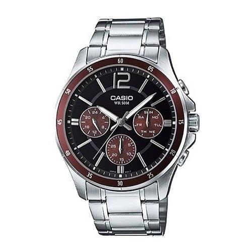 有發票 實體店面 附台灣卡西歐保卡才是公司貨【時間光廊】CASIO 卡西歐 三眼錶 MTP-1374D-5A 防水