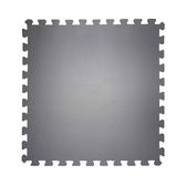 特力屋經典素色安全地墊-60x60x1.2cm/4入-卵石灰